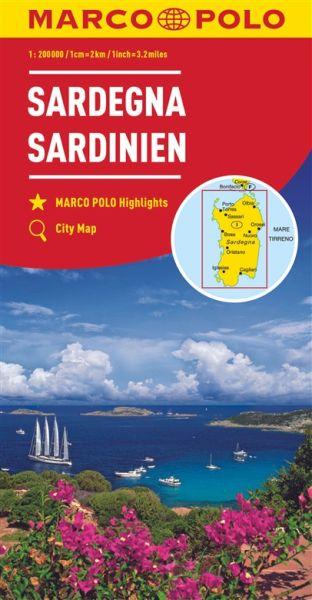 Sardinien Straßenkarte 1:200.000, Marco Polo Italien Blatt 15