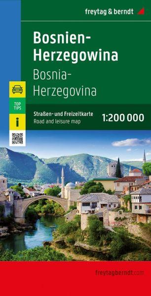 Bosnien-Herzegowina, Straßenkarte 1:200.000, Freytag und Berndt