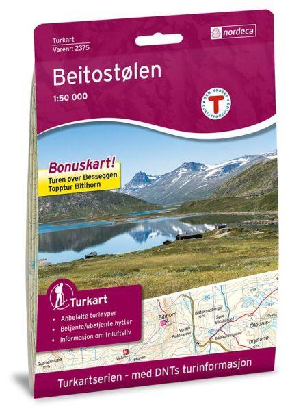 Norwegen topographische Wanderkarte Beitostølen 1:50.000, Turkart 2375