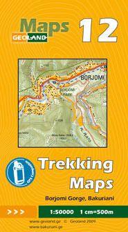 Borjomi-Schlucht, Bakuriani - Georgien Trekkingkarte 1:50.000 – Geoland 12