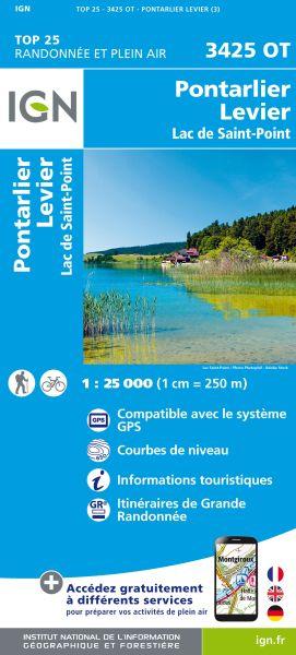 IGN 3425 OT Pontarlier, Levier, Frankreich Wanderkarte 1:25.000