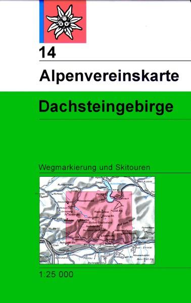 DAV Alpenvereinskarte 14 Dachsteingebirge, Ski- und Wanderkarte 1:25.000