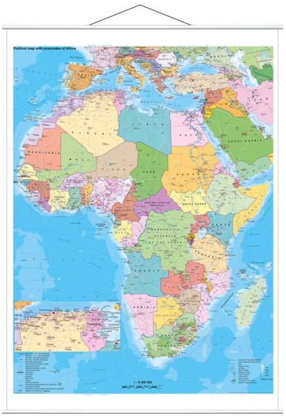 Afrika politisch großes Poster mit Metallleisten Stiefel Verlag 97 x 119 cm