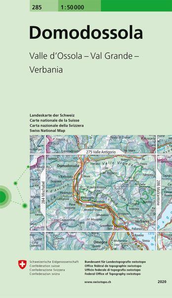 285 Domodossola topographische Wanderkarte Schweiz 1:50.000