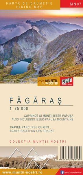 Fagaras Wanderkarte 1:75.000/1:35.000, wetterfest, MN07