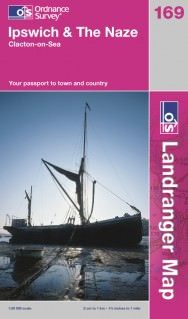 Landranger 169 Ipswich & The Naze, Großbritannien Wanderkarte 1:50.000
