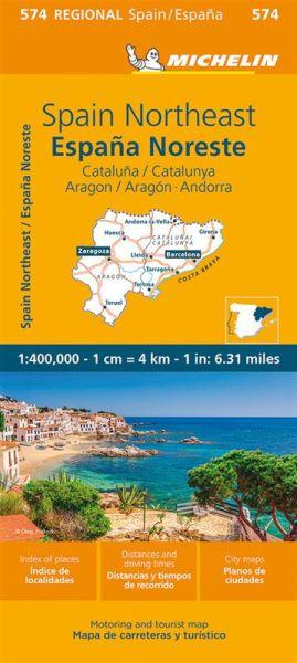 Michelin regional 574 Katalonien, Aragon, Andorra; Straßenkarte