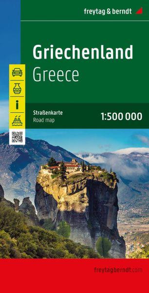 Griechenland, Straßenkarte 1:500.000, Freytag und Berndt