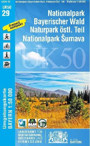 UK50-29 Naturpark Bayerischer Wald Ost Rad- und Wanderkarte 1:50.000 - Umgebungskarte Bayern