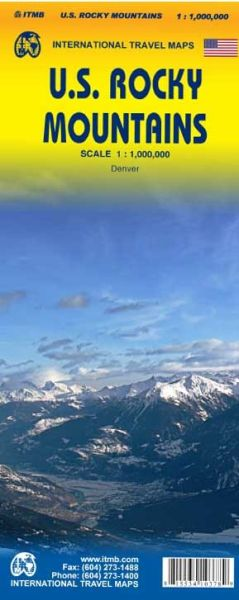 U.S. Rocky Mountains Landkarte 1:1.000.000, ITM