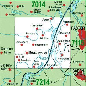 7114 IFFEZHEIM topographische Karte 1:25.000 Baden-Württemberg, TK25