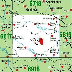 6818 KRAICHTAL topographische Karte 1:25.000 Baden-Württemberg, TK25