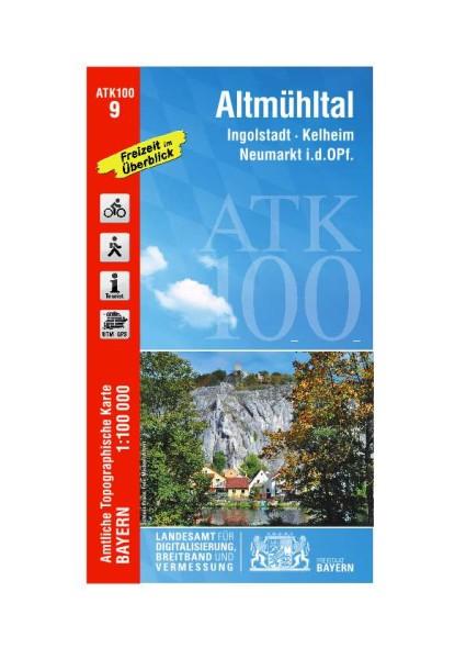 ATK100 Blatt 9 Altmühltal, Freizeitkarte, 1:100.000 amtliche topographische Karte