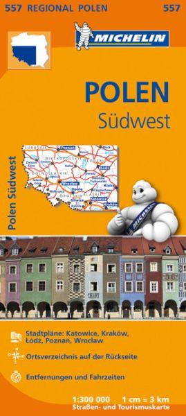 Michelin 557 Polen Südwest Straßenkarte 1:300.000