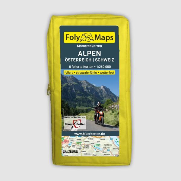 Motorradkarten Alpen, Österreich und Schweiz 1:250.000 von FolyMaps