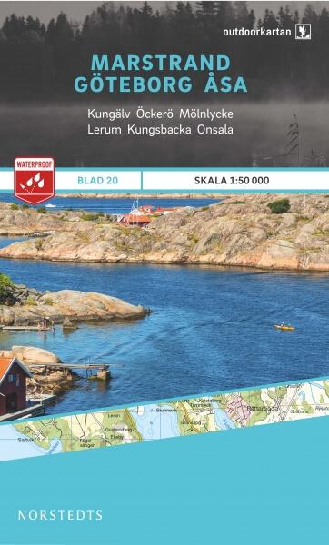 Marstrand - Göteborg - Åsa, Outdoorkartan Blatt 20, Schweden Wanderkarte 1:50.000