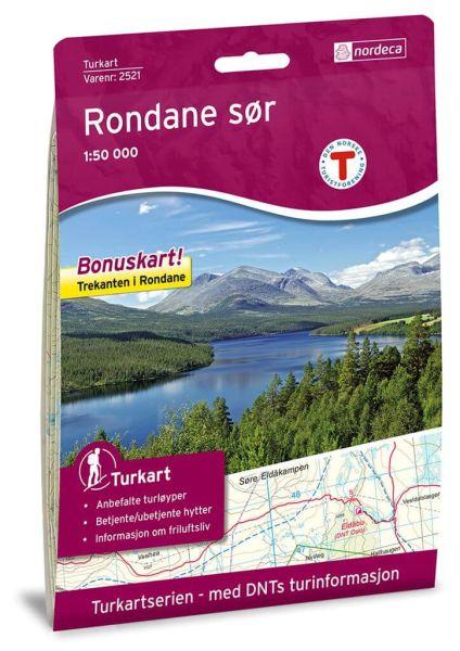 Rondane Süd / Sør Wanderkarte 1:50.000 – Norwegen, Turkart 2521 von Nordeca