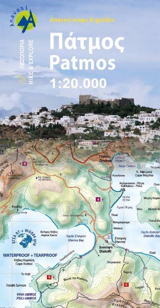 Patmos, Wanderkarte 1:20.000, Anavasi 10.39, Griechenland