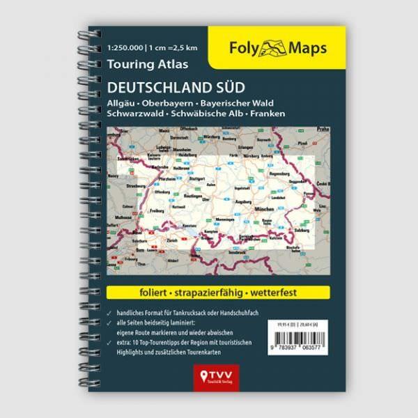 Touring Atlas Deutschland Süd, 1:250.000 von Foly Maps