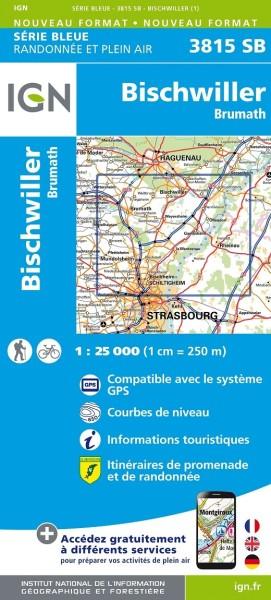 IGN 3815 SB Bischwiller, Brumath Frankreich topographische Karte 1:25.000