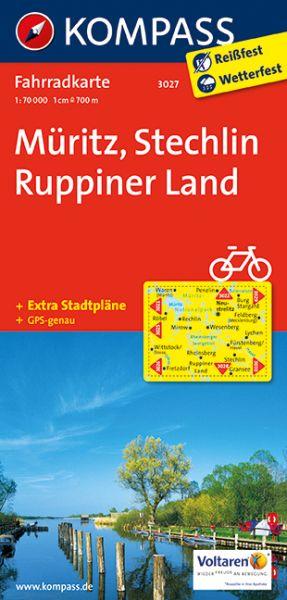 Kompass Fahrradkarte Blatt 3027, Müritz, Stechlin, Ruppiner Land 1:70.000