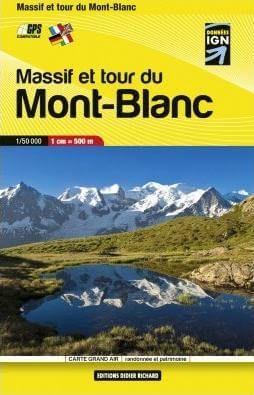 Didier Richard Massif et tour du Mont Blanc Wanderkarte 1:50.000