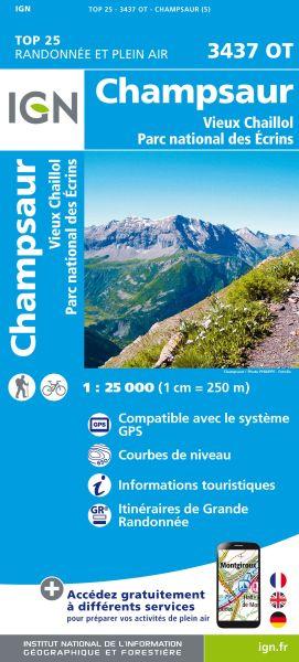IGN 3437 OT Champsaur, Vieux Chaillol, Frankreich Wanderkarte 1:25.000