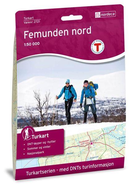 Norwegen topographische Wanderkarte Femunden Nord 1:50.000, Turkart 2721