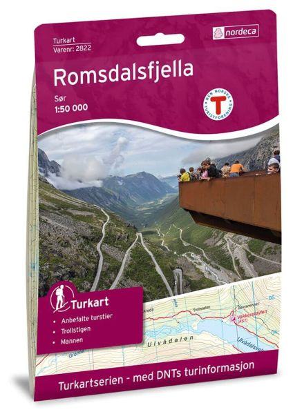 Romsdalsfjella Süd Wanderkarte 1:50.000 – Norwegen, Turkart 2822 von Nordeca