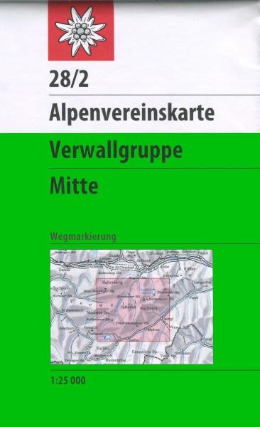 DAV Alpenvereinskarte 28/2 Verwallgruppe Mitte, Wanderkarte 1:25.000