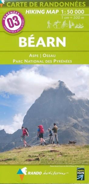 Rando Blatt 3: Béarn, Wanderkarte Pyrenäen 1:50.000