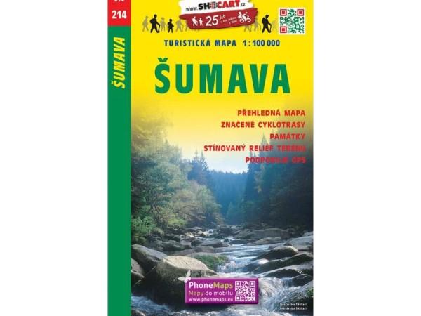Böhmerwald / Nationalpark Sumava Freizeitkarte 1:100.000 - SHOCart 214