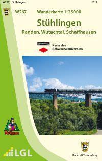 Stühlingen W267, Wanderkarte 1:25.000, Schwarzwaldverein