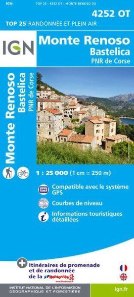 IGN 4252 OT Monte Renoso - Bastelica, Korsika Wanderkarte 1:25.000