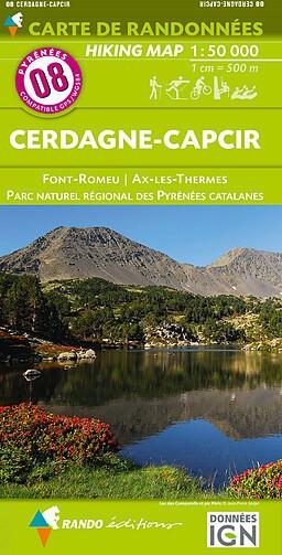 Rando Blatt 8: Cerdagne-Capcir, Wanderkarte Pyrenäen 1:50.000