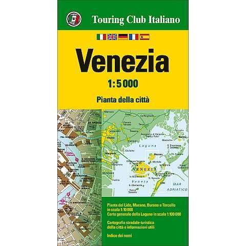 TCI Venedig, Venezia Stadtplan (Touring Club Italiano) 1:5.000 wasser- und reißfest