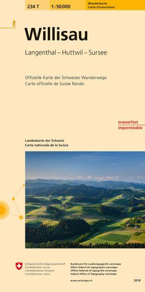 234 T Willisau Wanderkarte 1:50.000 - Swisstopo
