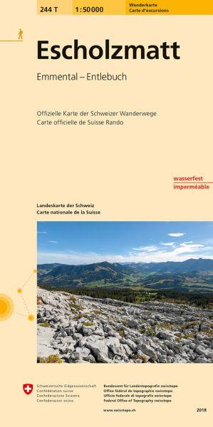 244 T Escholzmatt Wanderkarte 1:50.000 - Swisstopo