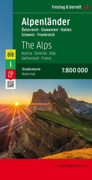 Alpenländer, Straßenkarte 1:800.000, Freytag und Berndt