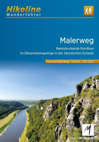 Malerweg, Hikeline Wanderführer mit Karte