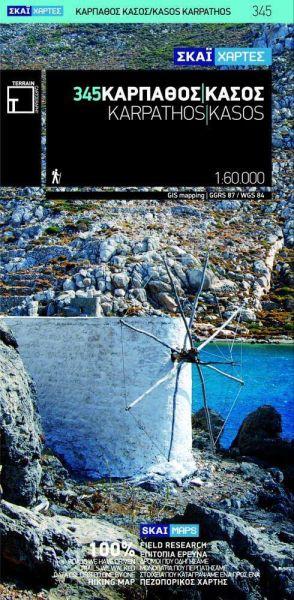 Karpathos / Kasos, Griechenland topographische Wanderkarte 1:60.000, Terrain Maps 345