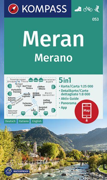 Kompass Karte 053, Meran / Merano 1:25.000, Wandern, Rad fahren