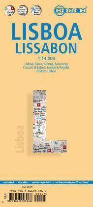 Lissabon Stadtplan 1:14.000 wasser- und reißfest, Borch