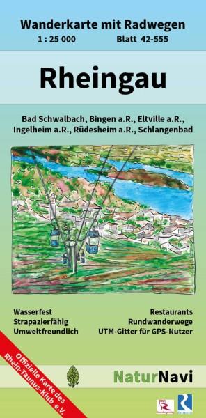 Rheingau 1:25.000 Wanderkarte mit Radwegen – NaturNavi Bl. 42-555