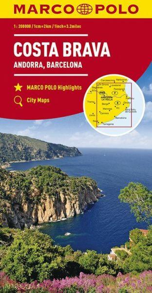 Costa Brava Straßenkarte 1:200.000, Marco Polo