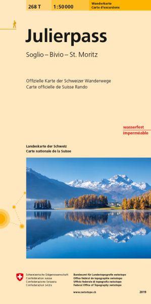 268 T Julierpass Wanderkarte 1:50.000 - Swisstopo