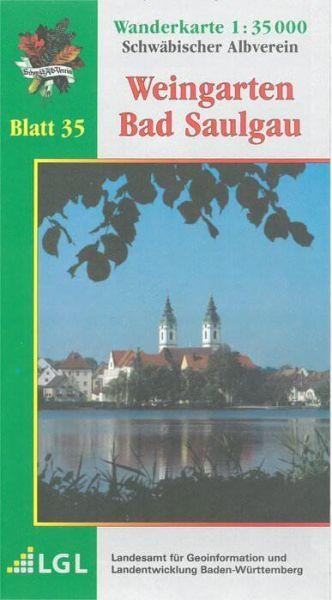 Weingarten - Bad Saulgau Wanderkarte 1:35.000 Schwäbischer Albverein
