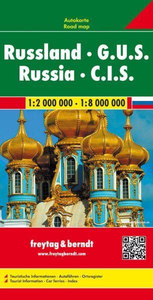 Russland, GUS, Straßenkarte 1:2.000.000, Freytag und Berndt