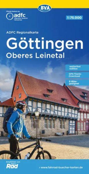 ADFC-Regionalkarte, Göttingen, oberes Leinetal, Radkarte, 1:75.000