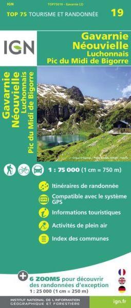 Gavarnie, Neouvielle 1:75.000 Rad- und Wanderkarte, IGN Top7509